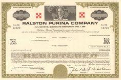 Ralston Purina 5 Convertible Debenture Bond Issued 1976 For Dollars Pizza Franchise, Money Frame, Keystone Ski Resort, Bond Issue, Franchise Business, Jack In The Box, Baking Company, Large Animals