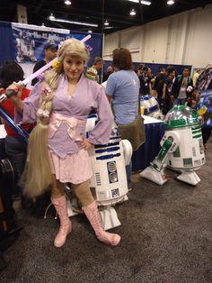 Jedi Rapunzel at Wonder Con