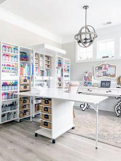 Emoji Challenge, Home Office, Craft Room Design, Design Desk, Library Design, Dawn Nicole, Brush Lettering, Hand Lettering, Ikea Furniture