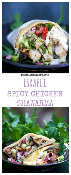 Spicy Chicken Shawarma: a home-cooked version of the delectable Middle Eastern street food. Read Recipe by panningtheglobe Israeli Food, Israeli Recipes, Cooking Recipes, Healthy Recipes, Cooking Games, Cooking Bacon, Cooking Turkey, Eastern Cuisine, Jewish Recipes