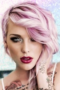 Pink pastel hair colour