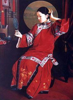 yifei artist | Chen Yifei,china artist,oil painting,people oil painting,china art