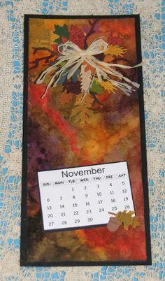 Ink Stains: 2016 Watercolor Calendar - November