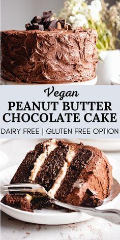 Vegan Dessert Recipes, Gluten Free Desserts, Delicious Desserts, Yummy Food, Best Vegan Cake Recipe, Vegan Baking Recipes, Healthy Cake Recipes, Best Cake Recipes, Cooking Recipes