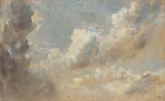 john constable, cloud studies, ca. 1820's.