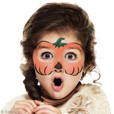 DIY Easy pumpkin Halloween makeup for little girl - I DIY Maquillage facile Citrouille Halloween pour fillette – Idées conseils et tuto Halloween DIY Easy pumpkin Halloween makeup for little girl - Halloween Pumpkin Makeup, Easy Halloween Face Painting, Halloween Makeup For Kids, Little Girl Halloween, Looks Halloween, Halloween Pumpkins, Halloween Diy, Halloween Facepaint Kids, Halloween Costumes