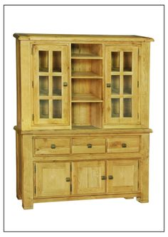 ELEPHANT  FURNITURE - Danube - Medium Buffet & Hutch (1500mm x 450mm x 1900mm High)  DWO-MB/H048 - SPECIAL PRICE: $646 Weathered Oak, Oak, Storage, China Cabinet, Cabinet, Furniture, Home Decor, Buying Wholesale