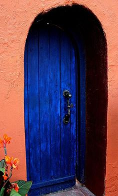 Puerta Azul Mesilla Art Print by Barbara Chichester Cool Doors, Unique Doors, Stairs And Doors, Windows And Doors, Entrance Doors, Doorway, Azul Vintage, When One Door Closes, Santa Fe Style