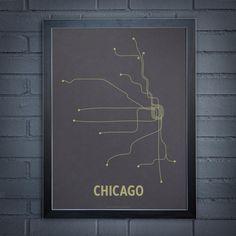 Chicago transit linework
