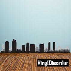 San Diego California Skyline Vinyl Wall Decal or Car Sticker SS061