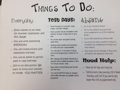 We Teach High School: First Days of School - to do for students