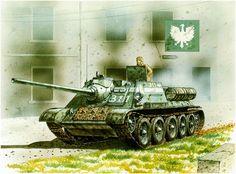 Su-85, 1st battery, 13. Self-Propelled Artillery Regiment, 1.er Polish Army; Berlin, May 1945. Peter Sarson