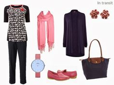 The Vivienne Files: Warm Weather Travel in Navy and Coral - Step by Step