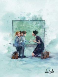 Back To School Art, I Love School, Art School, Magazine Illustration, Art Et Illustration, Art Illustrations, Lisa, Dream Art, William Turner