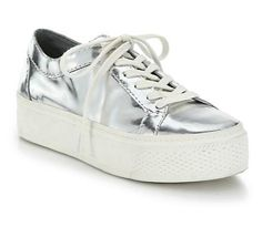 18 Pairs of Silver Shoes To Wear Every Day This Summer - Loeffler Randall Miko Metallic Leather Platform Sneakers, $295; at Saks Fifth Avenue