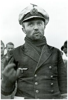 Gunther Prien , He commanded submarine U-47 and sank over 30 Allied ships totaling about 200,000 gross register tons (GRT). His most famous exploit was the sinking of the British battleship HMS Royal Oak at anchor in the Home Fleet's anchorage in Scapa Flow. for which he received as first member of the U boot Service  the Knight's Cross of the Iron Cross with Oak Leaves personaly from Adolf Hitler.the U-47 went missing on 7 March 1941  while attacking Convoy OB-293.
