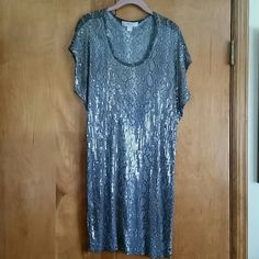 Michael Kors Sequin Dress Taupe Reptile print dress.  Great to dress up or dress down.  The front is sequin and the back is not.  Very cute for an evening out.  Worn once. MICHAEL Michael Kors Dresses