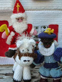 haken en zo wat meer: Haakpatroon Sinterklaas en zwarte Piet + paard