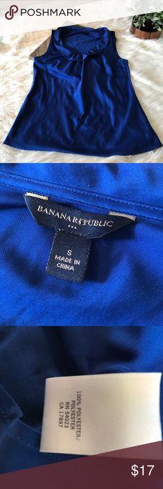 Banana republic tank top blouse Royal blue Banana Republic tank top with ruffle. Eve. Used condition. Banana Republic Tops Tank Tops