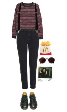 """skam"" by julietteisinthe80s on Polyvore featuring Topshop, MANGO, Dr. Martens and Ray-Ban"