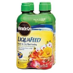 Miracle-Gro 1004322 LiquaFeed Refill 4-Pack by Miracle-Gro. $12.97. Includes 4 ready-to-use refill bottles. Ideal for vegetables and will be bountiful. Will result in better blooms and lush foliage. Apply every 7-14 days during the growing season; 8.9-Inches x 5-Inches x 5-Inches; weighs 6 pounds. Ideal for all types of flowers, trees, shrubs and lawns. LiquaFeed Makes Feeding as Easy as Watering  Miracle-Gro LiquaFeed is a revolutionary plant feeding system that allow...