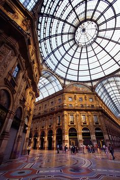 Galleria Vittorio Emanuele, Piazza del Duomo, Milan - a Mecca for incredible shopping and architecture.