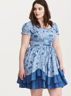 Tripp Owl Print Lace Up Dress | Torrid | Torrid | Pinterest | Owl ...
