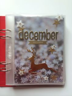 December Daily 2013 by Annie A at @Studio_Calico. Love this idea - a photo of star sequins as a background.