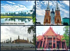 How we travel overland from Ho Chi Minh City, Vietnam to Phnom Pehn, Cambodia to Siem Reap, Cambodia to Bangkok, Thailand in 11 days Grand Palace Bangkok, Siem Reap, Tourist Spots, Angkor Wat, Ho Chi Minh City, Cebu, Bangkok Thailand, National Museum, Us Travel