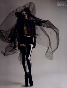 Kate Moss by Nick Knight for I-D | haute macabre | dark fashion | obscur | high fashion editorial