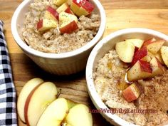 Metabolism Boosting Apple Pie Oatmeal - Oatmeal Recipes for Breakfast that Boost Weight Loss Weight Loss Meals, Best Weight Loss Foods, Quick Weight Loss Diet, Lose Weight, Healthy Breakfast For Weight Loss, Healthy Recipes For Weight Loss, Healthy Eating, Eating Fast, Healthy Meals