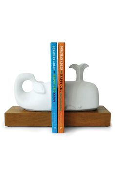 Jonathan Adler Whale Bookends #book #bookend #whale