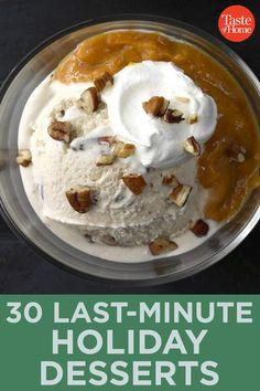 30 Last-Minute Holiday Desserts Pecan Cookies, Peanut Butter Cookies, No Bake Cookies, Chocolate Chip Cookies, Chocolate Malt, Chocolate Dipped, Malted Milk, Cookie Tray, Sandwich Cookies