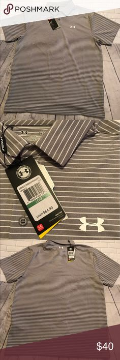 NWT UNDER ARMOUR MEN'S POLO 👚 SIZE L NWT MEN'S UNDER ARMOUR POLO  SIZE L Color: Grey Original Price: $65.00 Under Armour Shirts Polos