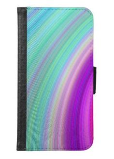 Radiance Samsung Galaxy S6 Wallet Case $29.80 *** Abstract colorful curved stripe design *** radience - colorful - digital design - art - color art - spectrum - beautiful - sky - dream - fractal - pretty - colors - multicolored - Samsung Galaxy S6 case