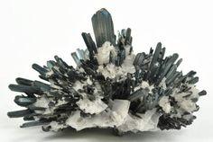 Silver Stibnite with Barite