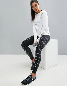 Nike leggings con logo grande Just do it