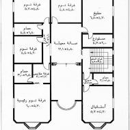 تصاميم ومخططات منازل Family House Plans House Floor Design Square House Plans