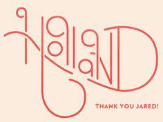 Holland, Michigan Typography design inspiration