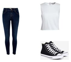 """Untitled #369"" by may5lin on Polyvore featuring Canvas by Lands' End, River Island and Converse"
