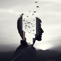 Inspiration – experimental double exposure effects.