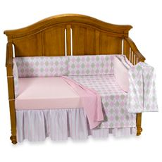 Little House by Annette Tatum™ Argyle Pink 5-Piece Crib Bedding Set and Accessories - buybuy BABY