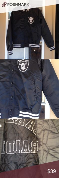 Selling this Oakland Raiders Bomber Jacket on Poshmark! My username is: poshmar. #shopmycloset #poshmark #fashion #shopping #style #forsale #Chalkline #Jackets & Blazers
