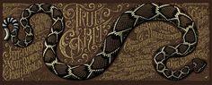 True Grit poster, by Aaron Horkey.