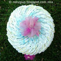 Torta di pannolini per una bimba appena nata: link ai tutorial nel post! - Diaper cake for a newborn girl: links to tutorials in the post! - RobyGiup handmade #DIY #gift #tutorial