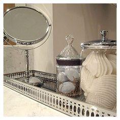 Silver Tray Bathroom Vignette