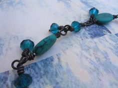 Turquoise Dreams Turquoise and Teal Crystal by FizbanFunDesigns, $30.00