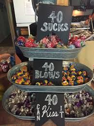 Image result for dessert table ideas for 50 th birthday & Candle idea for 50th birthday party decorations. See more ...