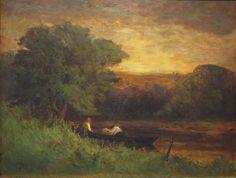 River Scene, 1883 - EDWARD MITCHELL BANNISTER.Эдвард Митчелл Баннистер