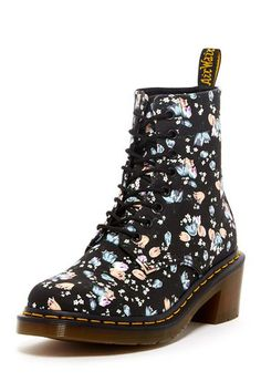 Lynn Floral Print Lace-Up Boot by Dr. Martens on @HauteLook